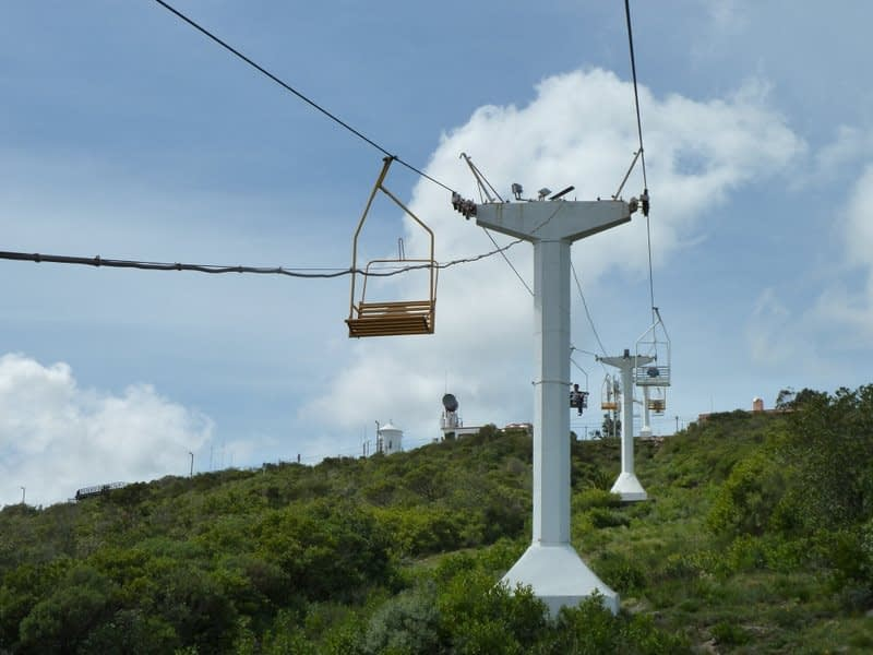 San Antonio Hill on one of the chair lifts