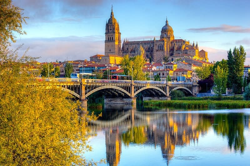 Salamanca Cathedral after sunrise