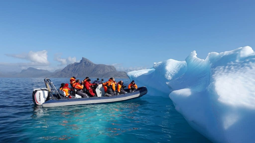 boat ride in Greenland