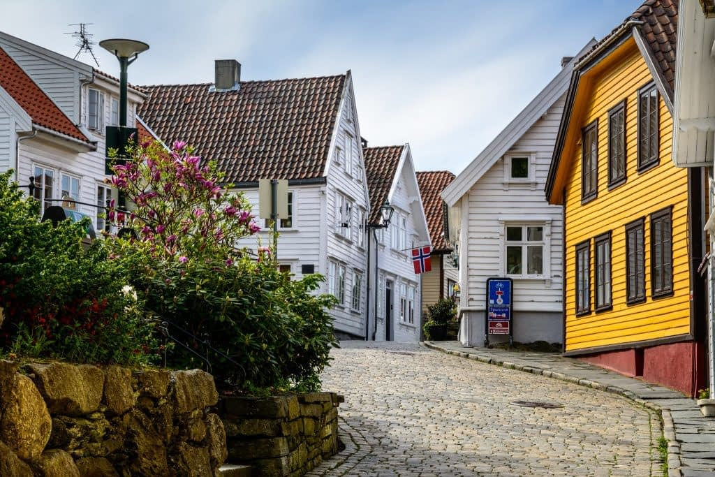 Stavanger's colorful streets